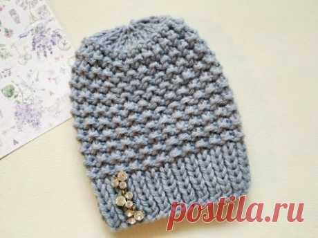 Очень теплая шапка спицами на зиму » «Хомяк55» - всё о вязании спицами и крючком