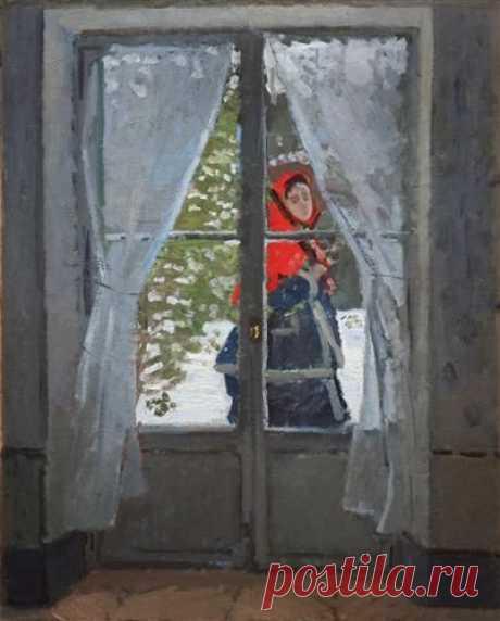 The Red Cape (Madame Monet) - Claude Monet