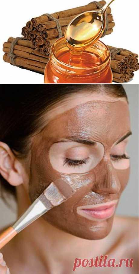 Чудодейственная маска для лица и шеи из корицы и меда.