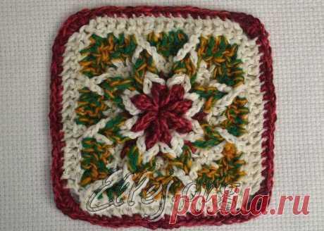 Мотив Польская звезда | Crochet by Ellej | Crochet by Ellej | Вязание крючком от Елены Кожухарь