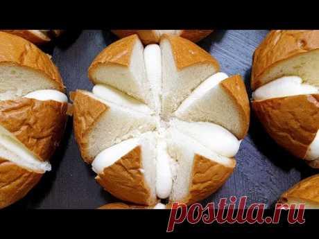 Топ 10, Вкусная корейская выпечка, Разнообразие хлеба, Чесночный хлеб, Корейская уличная еда