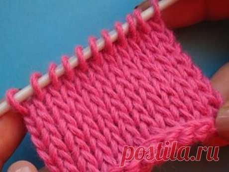 Простое тунисское вязание - плотная чулочная вязка крючком