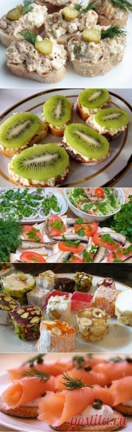 ТОП-6 рецептов бутербродов к праздничному столу