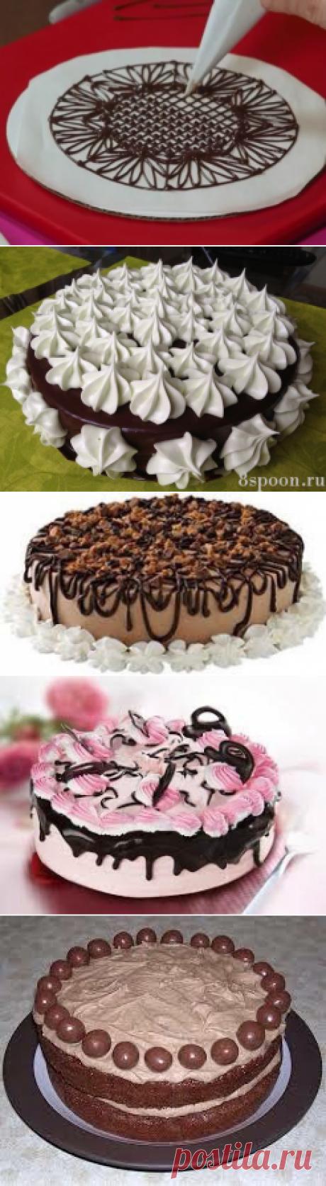 Как украсить торт : копилка идей! | Четыре вкуса