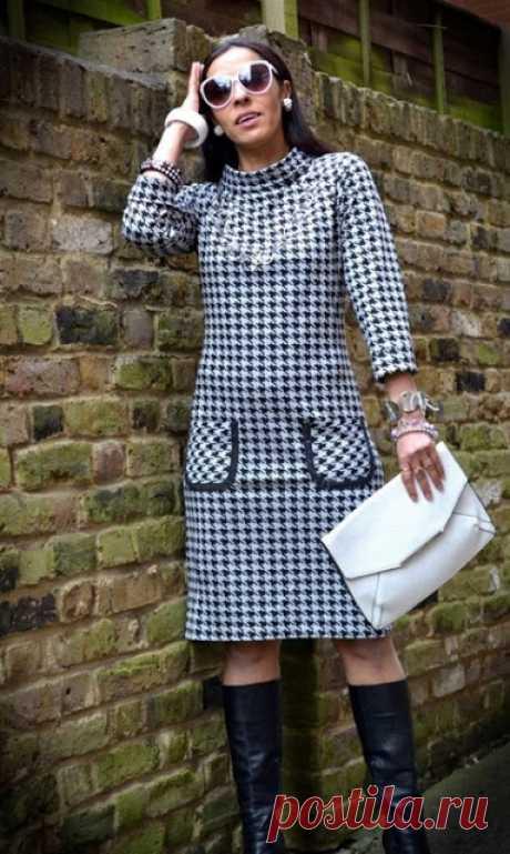 Выкройка платья в стиле Coco Chanel