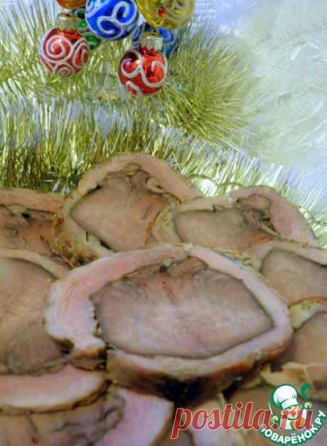 Рулет из свинины с языком в чайном маринаде – кулинарный рецепт