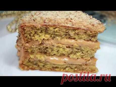 Очень вкусный Ореховый торт. Нежный и простой в приготовлении торт