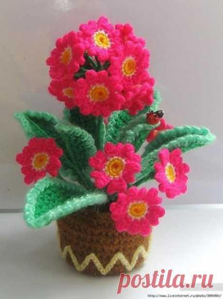 Вязаные цветы. Идеи для вдохновения