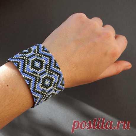 Широкие браслеты из бисера: схемы плетения, примеры