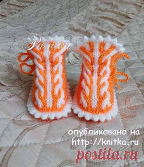 Knitting of bootees spokes. More than 23 schemes of knitting of bootees on Knitka.ru - knitting by spokes.