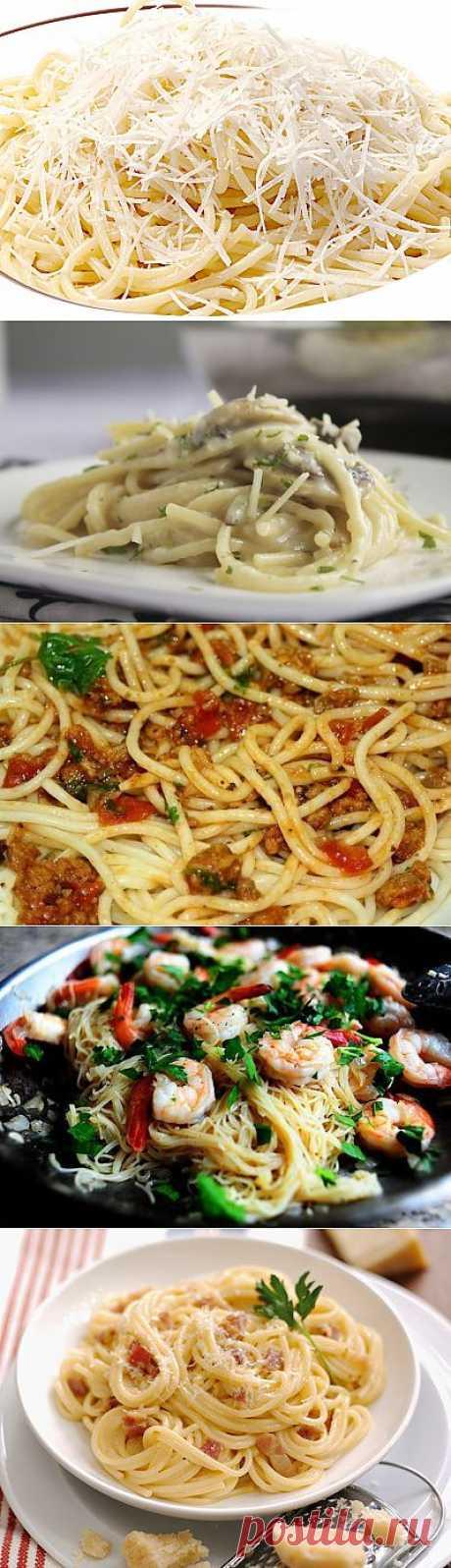 Спагетти с сыром - 5 рецептов с фото.