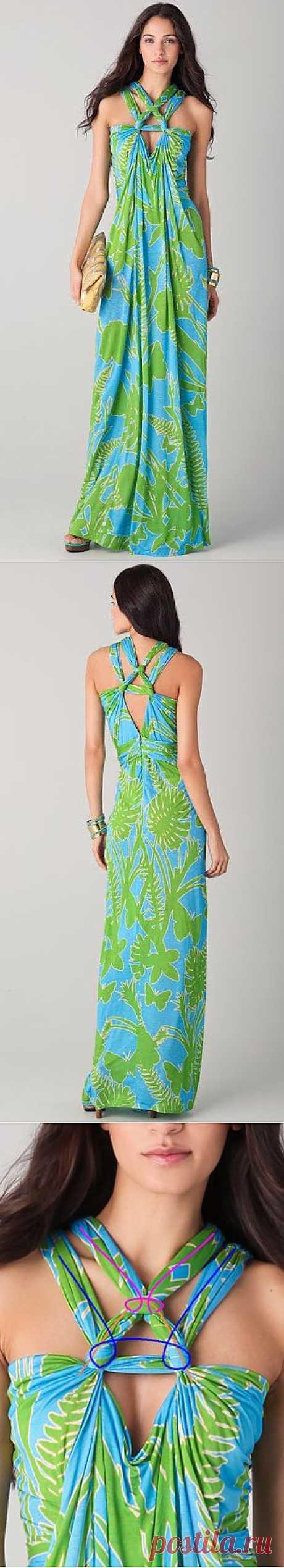 Summer sundress from pattern Matthew Williamson.Prostye.