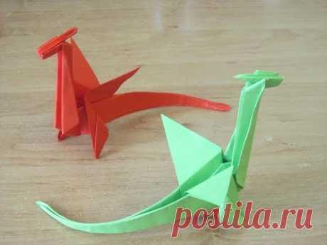 Как сделать Дракон из бумаги 2 Оригами БУМАЖНЫЙ ДРАКОН Origami paper dragon