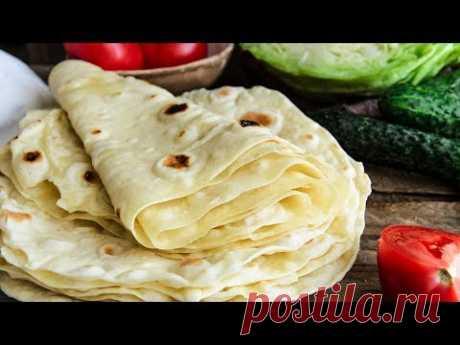 ЛАВАШ в домашних условиях🍴Тонкий (армянский) лаваш для ШАУРМЫ и ЗАКУСОК / ПРОСТО и ВКУСНО!!!