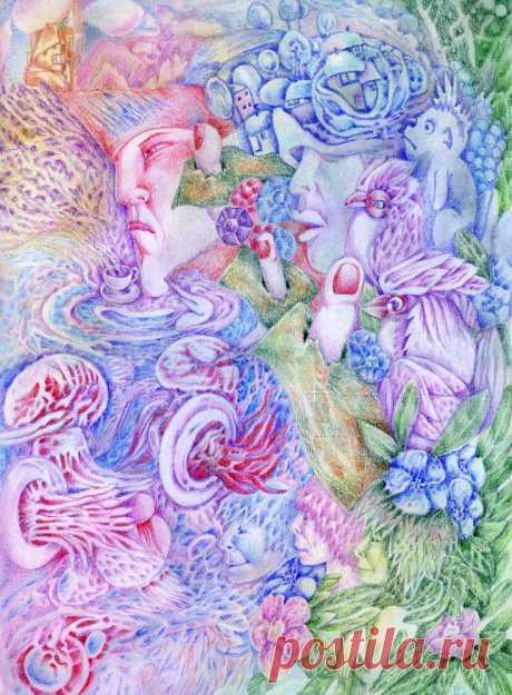 И нежных тел прозрачных чехарда, под водами солеными, неспешно кружат, и просят чтобы я, читала им стихи и прозу. Их жалобы о холоде неслышны,они то в дреме, то телами мельтешат в скудеющих лучах далекого к ним солнца, и свет его как кольца нанизав, играют в лето. Чтобы легче было ждать весны приход и радость бытия, вернула чтобы к жизни  всех соседей,что впали в зимний сон под сладких сказок красноречье и тихое напевное нытье усталых уст стареющих русалок, героев, что погибли на войне, и миллио