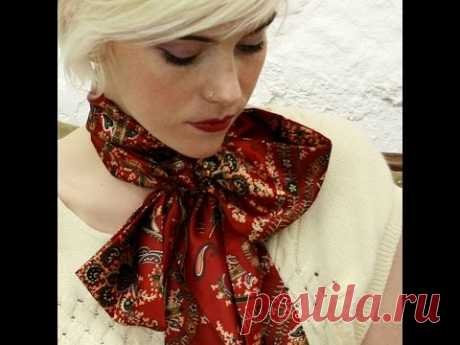Как завязывать красиво палантин шарф или платок