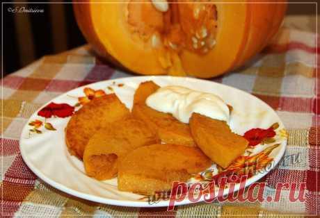 Жареная тыква - рецепт с фото Тыкву можно жарить с луком, с чесноком, как картошку и даже в карамели. Я люблю просто жареную тыкву со сметаной. Для приготовления нужно-то всего лишь 10 минут.