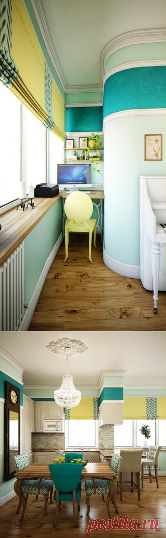 Как грамотно организовать пространство: яркая квартира для молодой семьи – Roomble.com