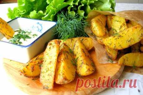 Картофель Айдахо в духовке.