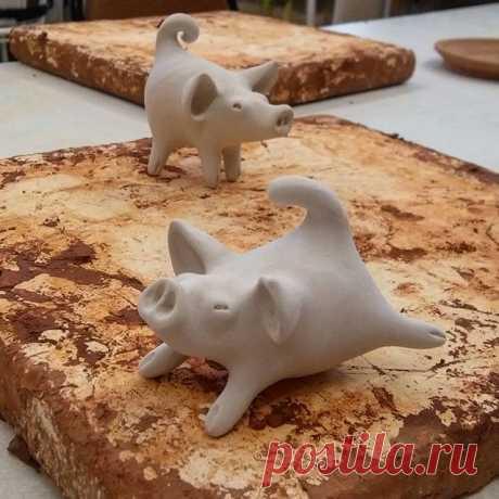 Красотки, я считаю!))) #glücksschwein #schwein #pigs #ceramics #ceramicstudio
