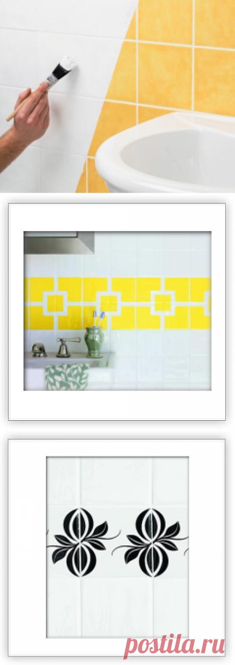 Красим керамическую плитку — Наши дома