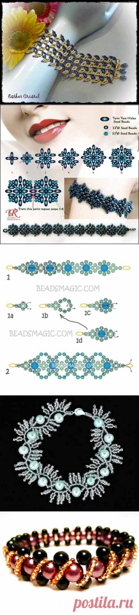 IDEAS AND SCHEMES OF WEAVING BY BEADS