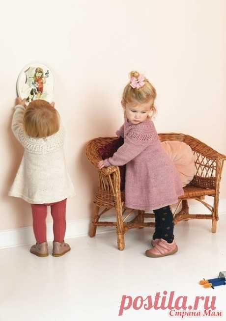 Детское платье спицами «Мистен» от Саднес Гарн — HandMade