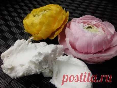 НЕ ВАРЁНАЯ МАССА для лепки цветов от Риты.Not cookt mass for Molding flowersby Rita