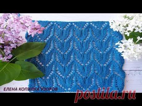 Красивый летний ажурный узор спицами /Beautiful summer openwork pattern with needles