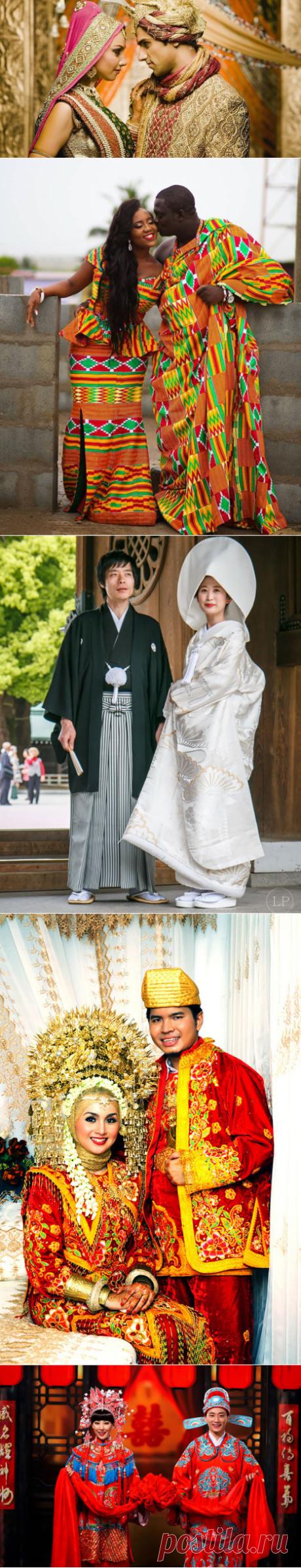 20 колоритных фотографий, на которых запечатлены молодожёны в традиционных свадебных нарядах разных стран