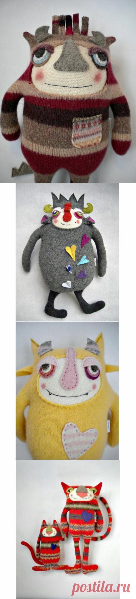 новые игрушки из старых свитеров: творческий подход Amanda Katzenmeyer