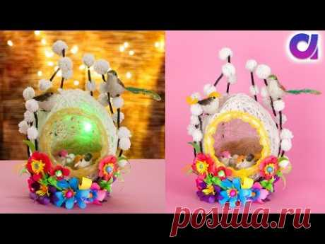 Best out of waste wool and bangle craft   DIY bird nest   Artkala - YouTube