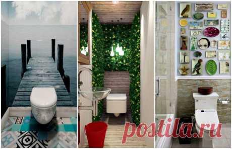 15 нетривиальных идей для дизайна туалета без скучной плитки и пластика | Мой дом