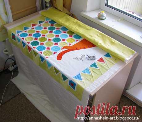 Как просто собрать сэндвич для стежки большого одеяла? Мастер-класс.