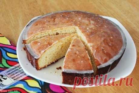 Как приготовить ванильно-йогуртовый кекс с лимонной глазурью - рецепт, ингредиенты и фотографии