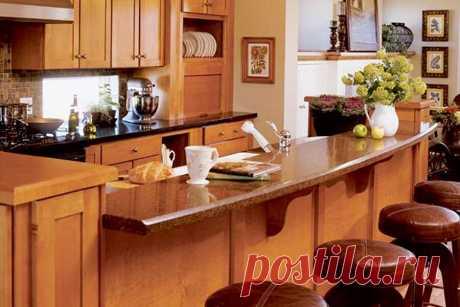 Дизайн кухни с барной стойкой. Особенности и преимущества
