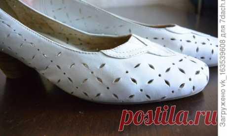 Есть у меня в гардеробе белые туфельки, которые я очень люблю. Чтобы светлая обувь из натуральной кожи долго оставалась привлекательной,