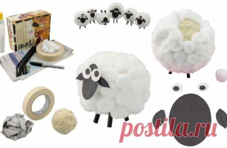 We do a lamb - Hand-made articles with children | to Detkipodelki