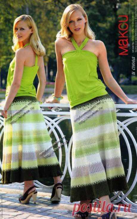 Длинная юбка крючком, 26 схем вязания с видео-уроками, авторские модели