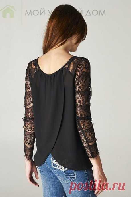 Блузки с красивыми спинками.