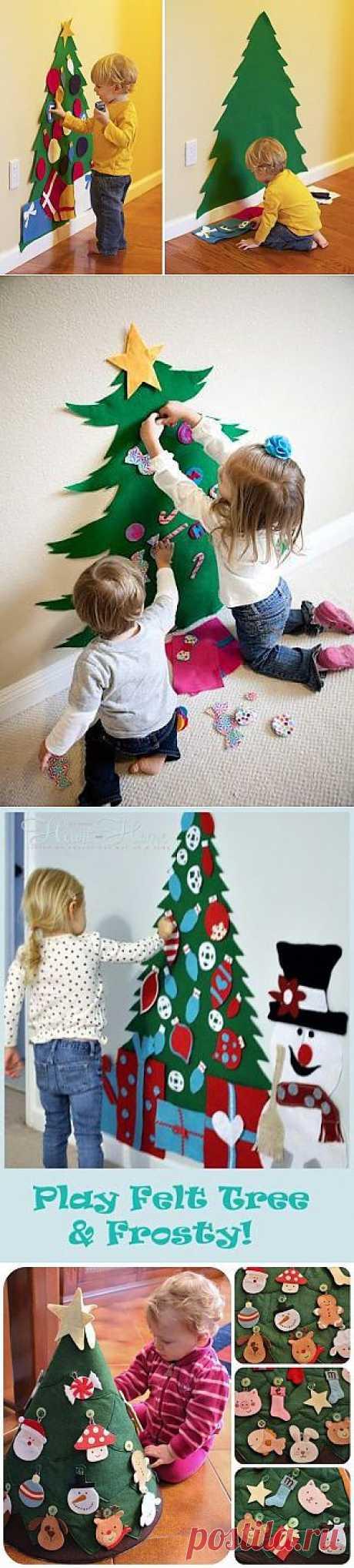 Ёлочки для малышей из фетра/флиса