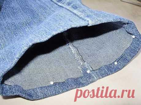 Как подшить джинсы: мастер-класс — Сделай сам, идеи для творчества - DIY Ideas