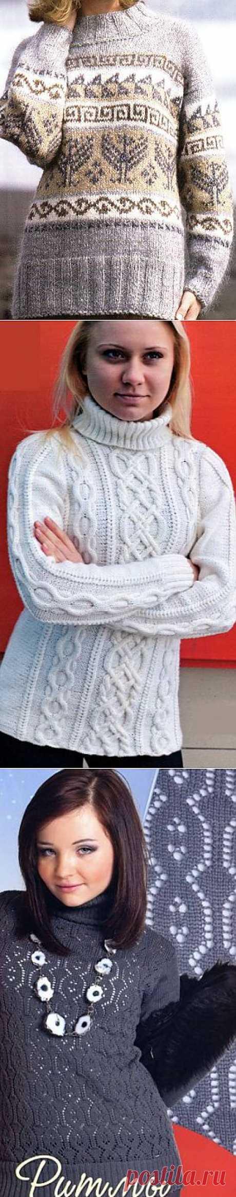 Вязаные свитера. Свитер с норвежским узором