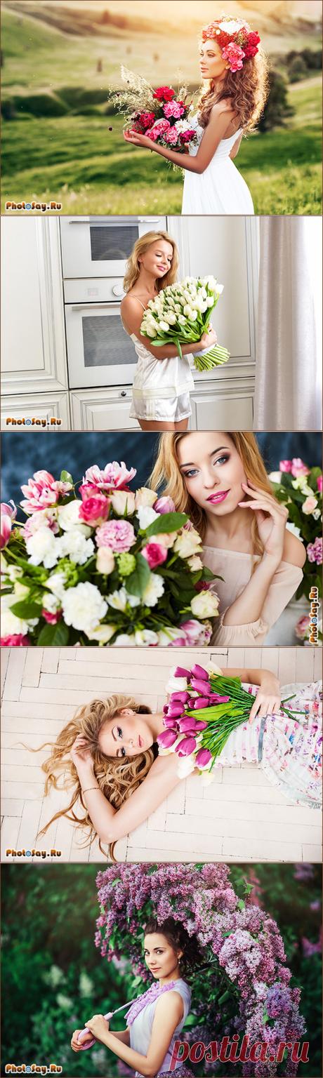 Как красиво сфотографироваться с букетом цветов