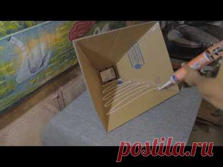mini soft box from a searchlight мини софт бокс из прожектора - YouTube