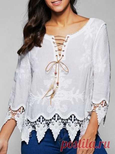 Белое бохо: шикарная одежда для королевы летнего пляжа