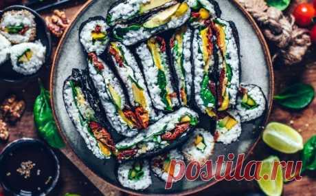 Веганские суши Праздник вкуса. Пошаговые рецепты с фото