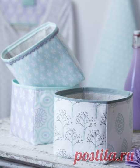 Текстильная коробка своими руками — Мастер-классы на BurdaStyle.ru
