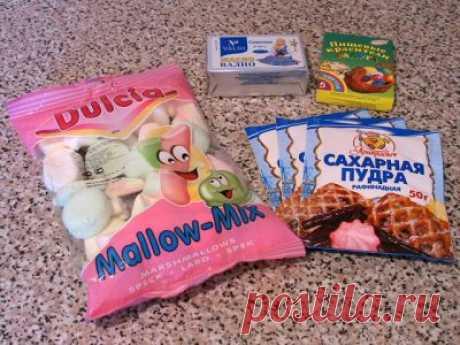 Сахарная мастика из маршмеллоу : Мастика, марципан, кремы