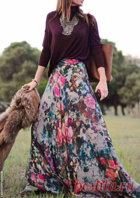 Модные длинные юбки 2019-2020 фото: с чем носить длинную юбку в пол - идеи, новинки, фасоны